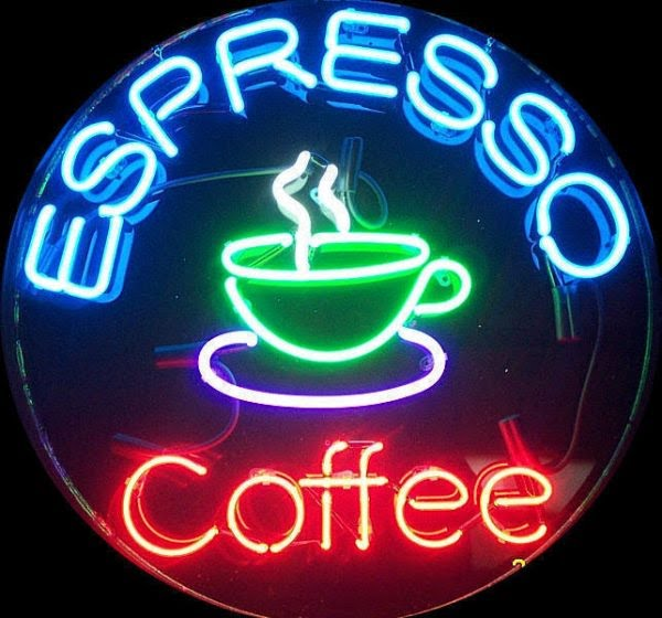 Mẫu bảng hiệu cà phê ấn tượng